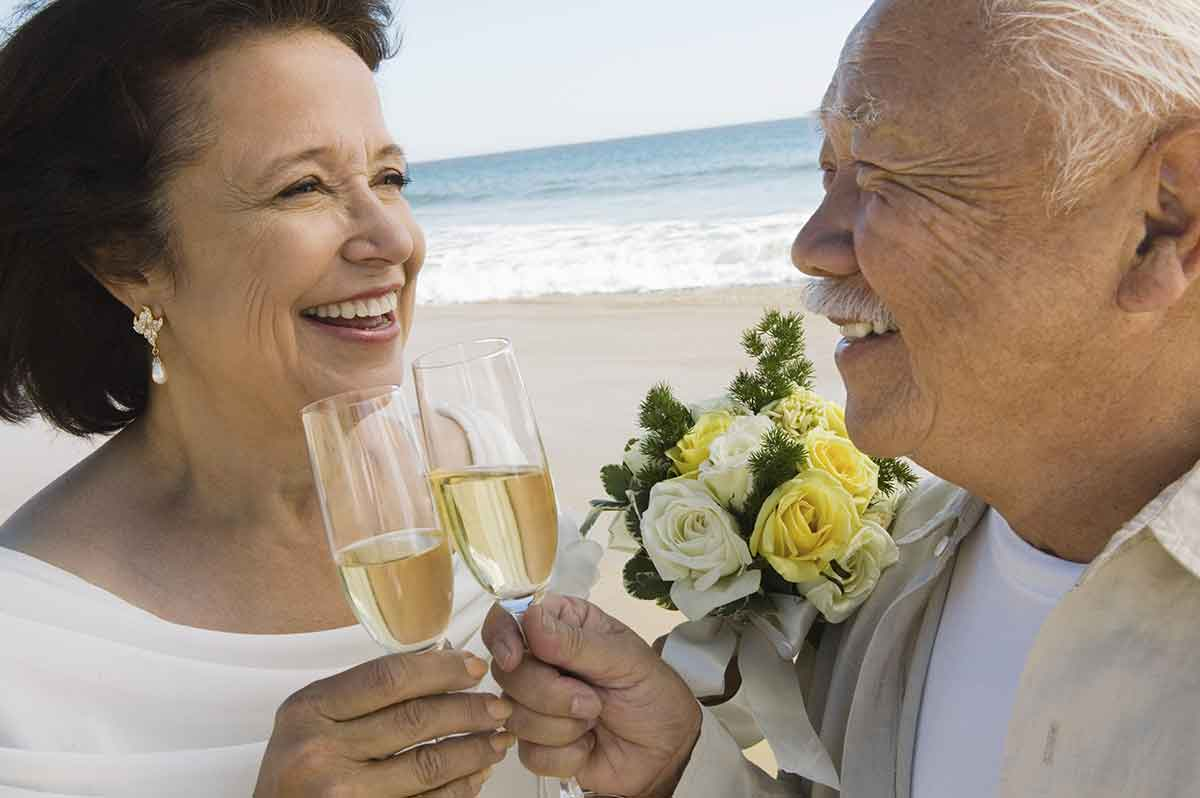 wedding renewal couple